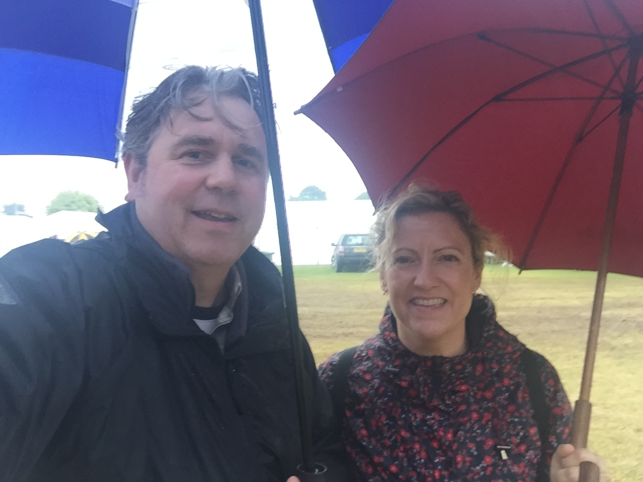 Andrew and Steph at a rainy Royal Norfolk Show.