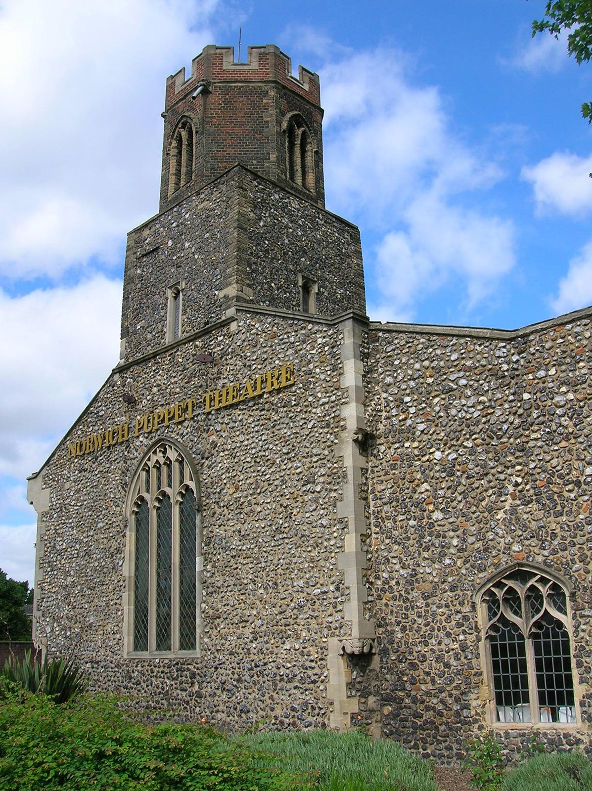 Saint James church, home to Norwich Puppet Theatre.