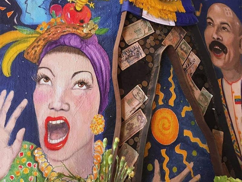 Mural inside Bar Tapas in Norwich.