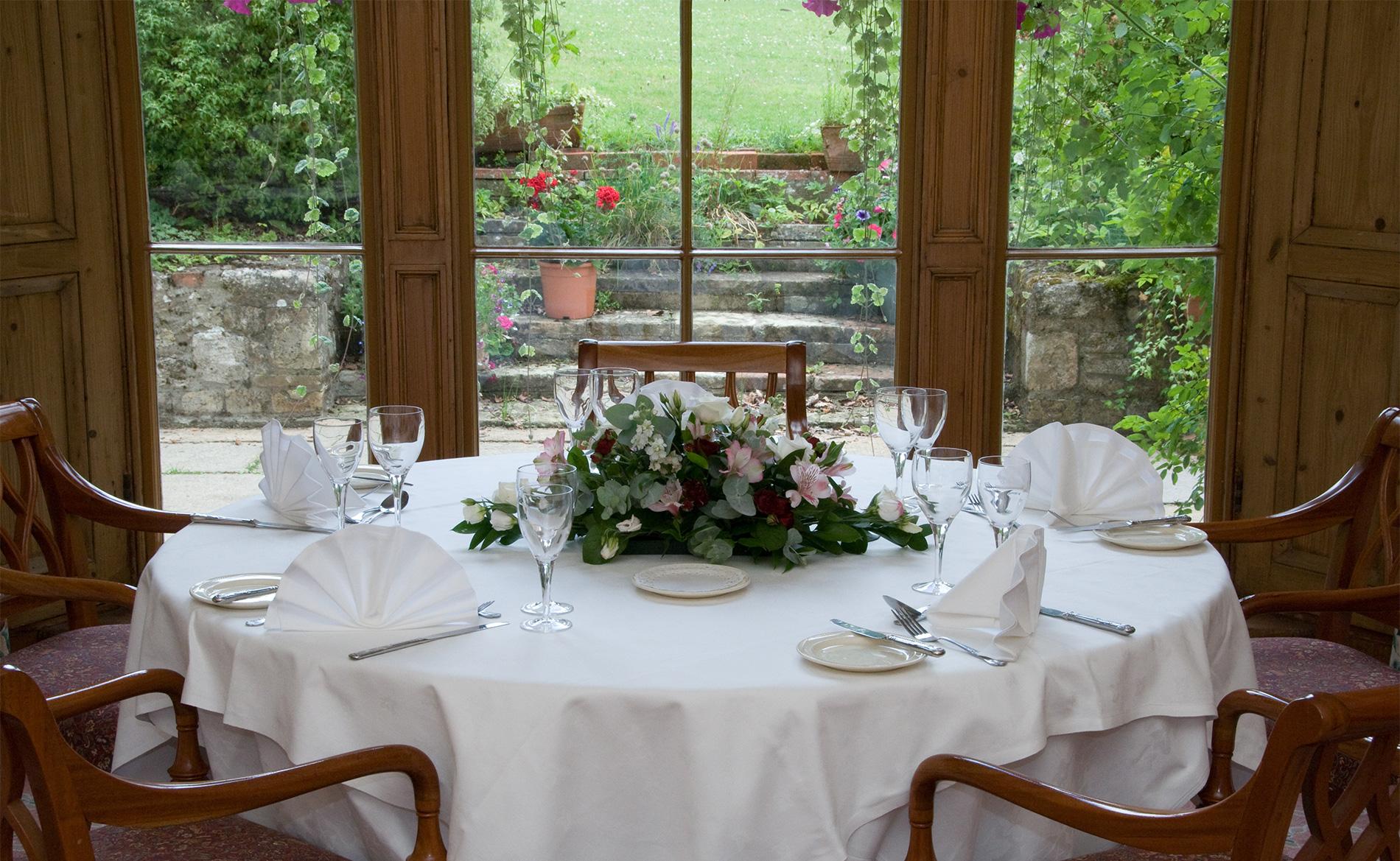 Dining at Stower Grange Hotel in Norfolk.