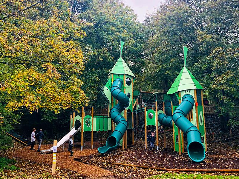 Adventure playground at Gressenhall in Norfolk.