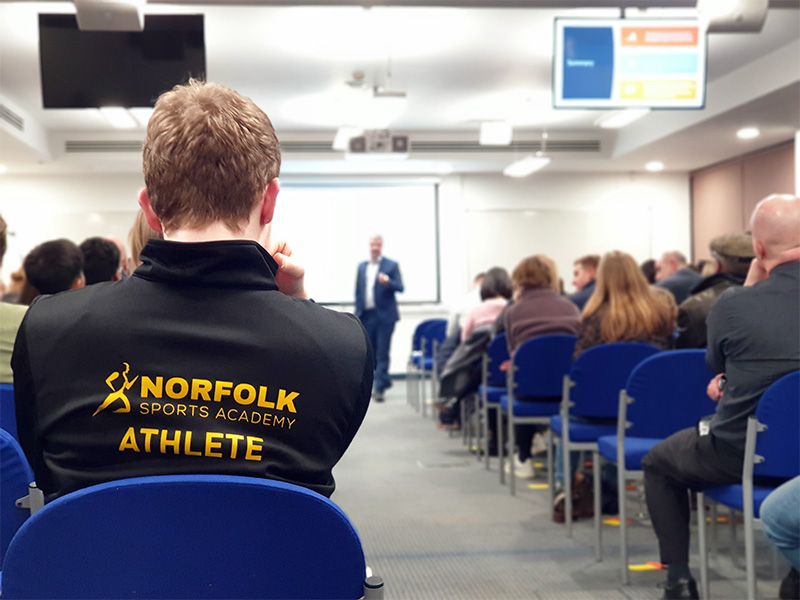 Conference at Norwich UEA Sportspark.
