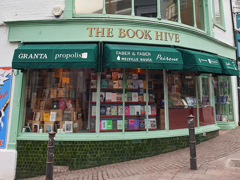 The Book Hive in Norwich.