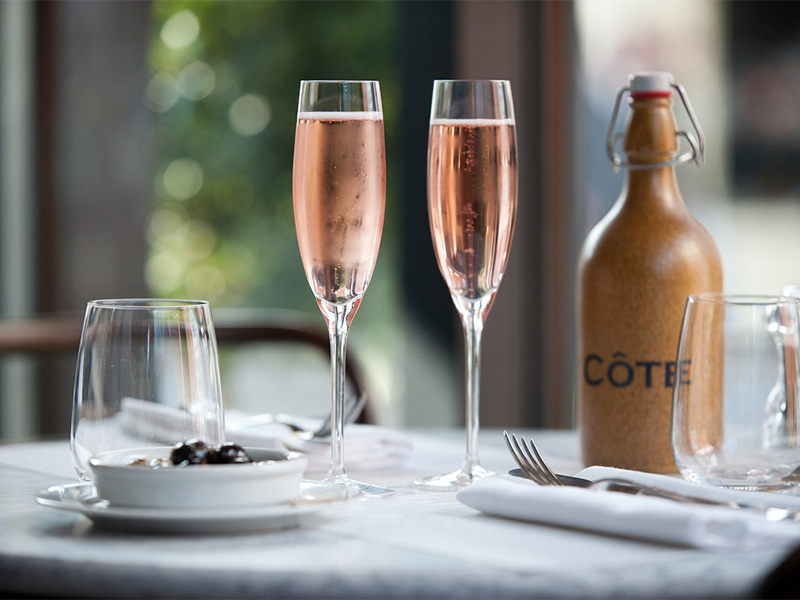 Kir Royales at Cote Brasserie in Norwich.