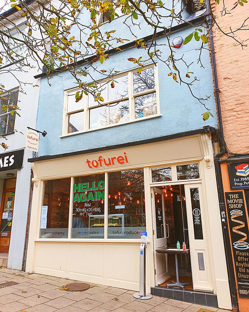 Tofurei in the Norwich Lanes.