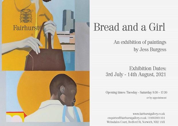 The Fairhurst Gallery Norwich Exhibition by artist Jess Burgess.