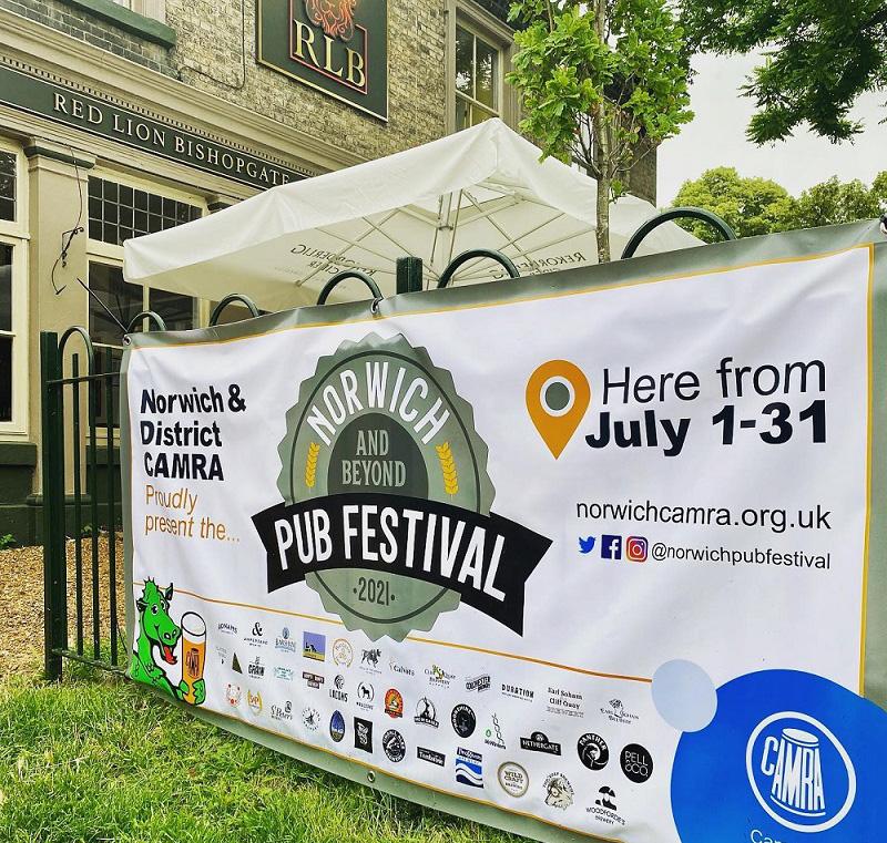 Norwich Pub Festival and the Red Lion Bishopgate.