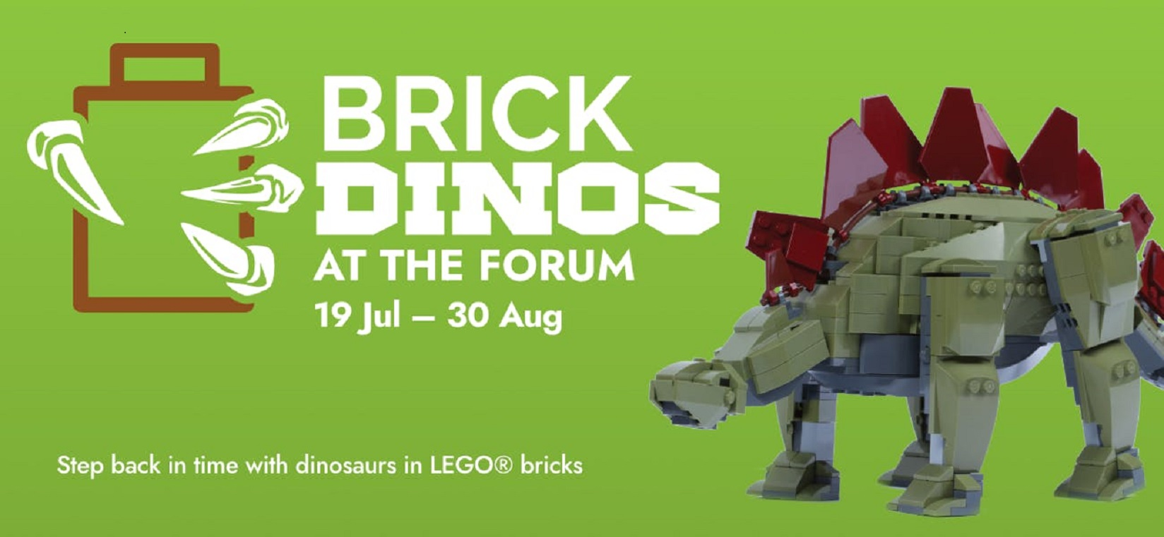 Brick Dinos at The Forum in Norwich.