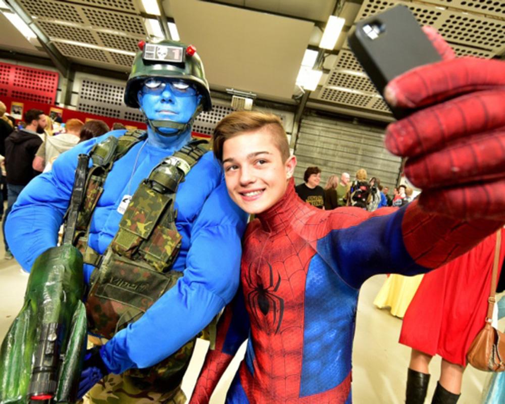 Spiderman at NORCON, Norfolk Showground.