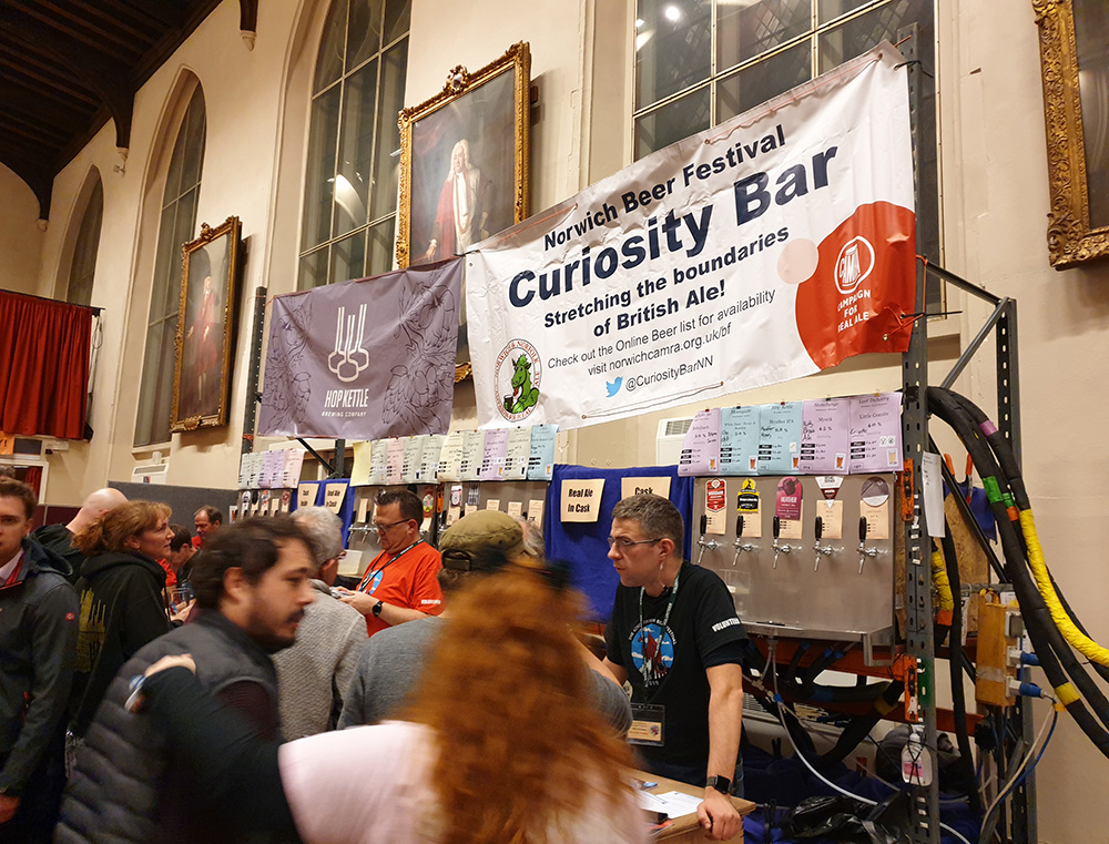 The Curiosity Bar at Norwich Beer Festival.