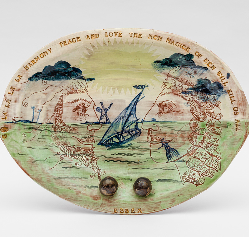 Essex Plate by Grayson Perry 1985 Glazed ceramic Private Collection.
