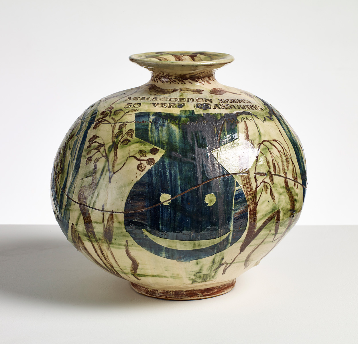 Armageddon Feels so Very Re-assuring by Grayson Perry 1988 Glazed ceramic Collection of the artist.